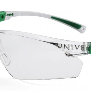 Safety Glasses 506UP White/Green Frame Clear Lens