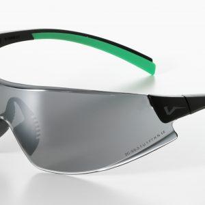 Safety Glasses 546 blk/green Frame Smoke Lens
