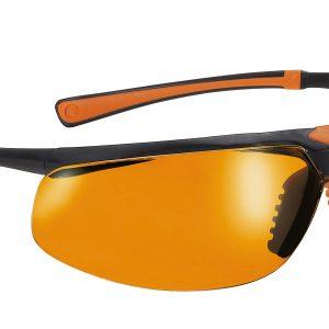 Safety Glasses 5X3 Blk/Ora Frame Orange Lens