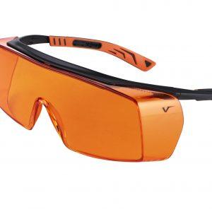 Safety Glasses 5X7 Blk/Ora Frame Orange Lens