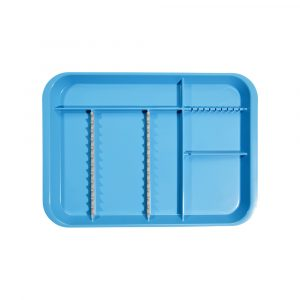 B-Lok Divided Tray Vibrant Blue - Optident Ltd