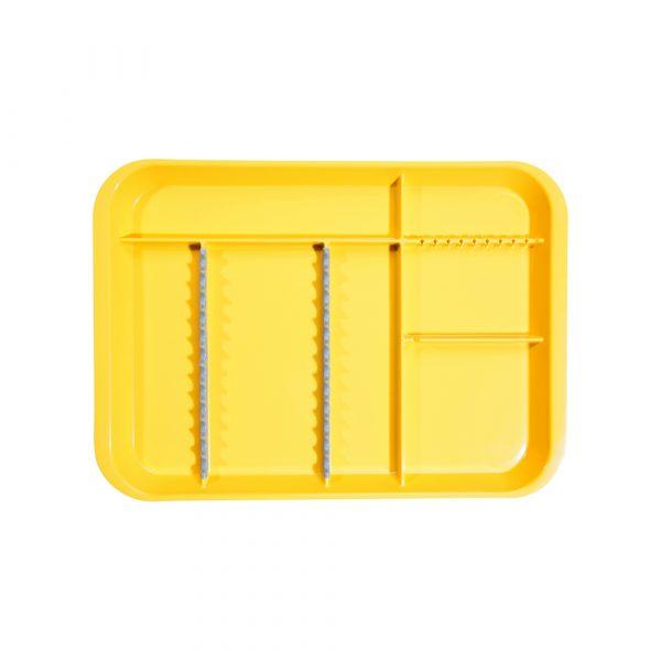 B-Lok Divided Tray Vibrant Yellow - Optident Ltd