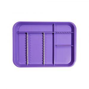 B-Lok Divided Tray Vibrant Purple - Optident Ltd
