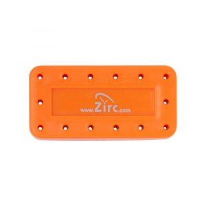 Bur-Block 14 Hole Vibrant Orange - Optident Ltd