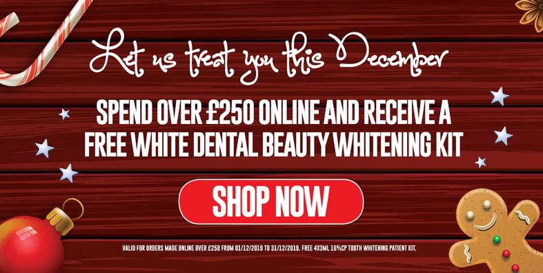 Free White Dental Beauty Whitening Kit for orders over £250!