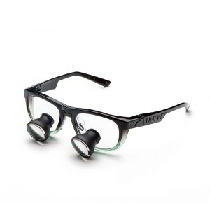 Galilean Loupes with Cool Emerald Frame - Optident Ltd