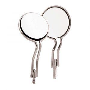 Mirror Double sided Titanium #5 simple stem 6pk - Optident Ltd