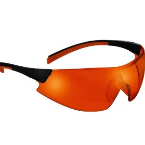 546 Safety Glasses black/orange Frame Orange Lens - Optident Ltd