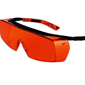 5X7 Safety Glasses Black/Orange Frame Orange Lens - Optident Ltd