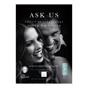 White Dental Beauty Poster - Optident Ltd