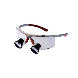 Galilean Techne Loupes TTL 2.5x 400 PRO white/red frame - Optident Ltd