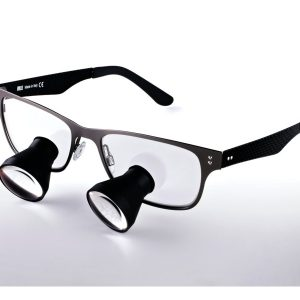 Galilean Ash Loupes TTL 2.5x 350 grey large frame - Optident Ltd