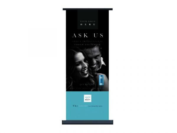 White Dental Beauty Pull up Banner - Optident