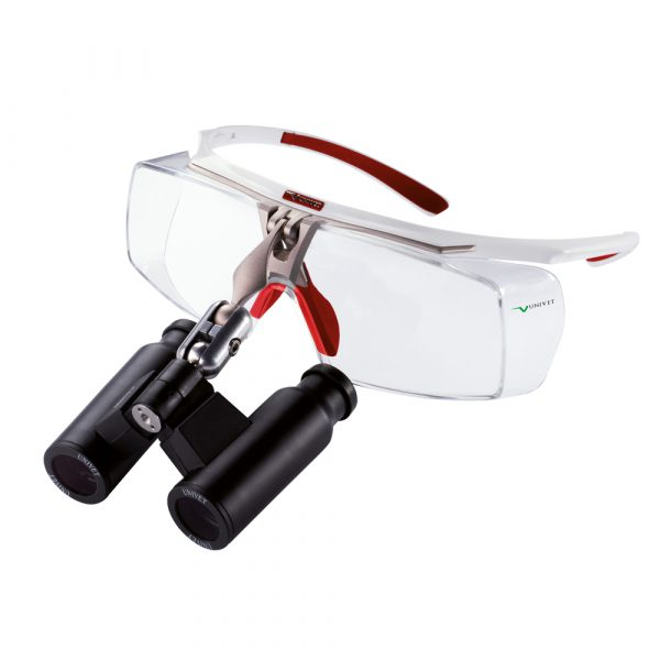 Prismatic Loupes with Air-X Flip-Up Frame - Optident Ltd