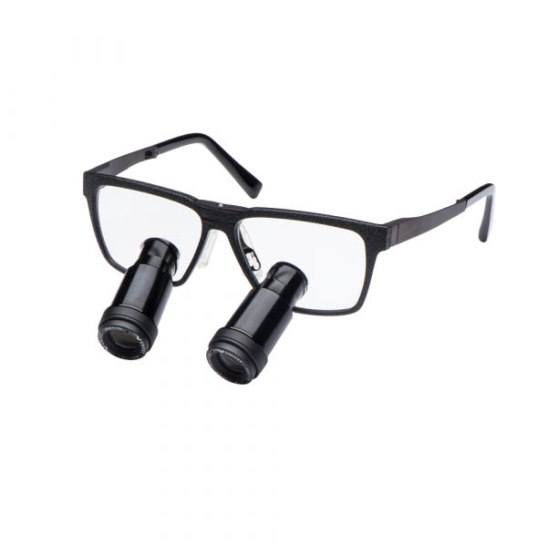 Prismatic Loupes with One Black Edition Frame - Optident Ltd